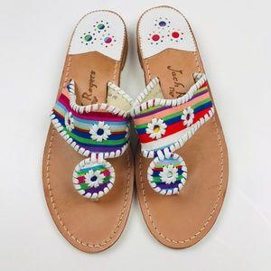 Jack Rogers Flat Color Stripe Sandals 10M